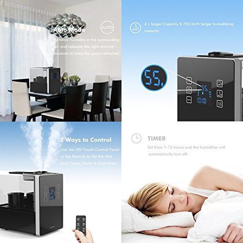 Elechomes Humidifiers Vaporizer With Filter Warm And Cool Import It All