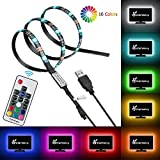 Vansky Bias Lighting for HDTV USB LED Strip Multi Color RGB LED Neon Accent Lighting System Kit for Flat Screen TV LCD, Desktop PC (Reduce eye fatigue and increase image clarity)