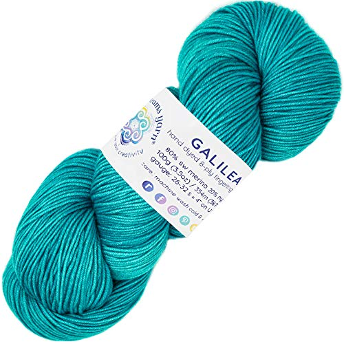 Living Dreams Yarn Galilea. Colorful Superwash Merino Sock Yarn. Super Soft and Strong. Hand Dyed to Perfection: Polaris ()