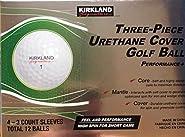 KLS 3-Piece Urethane Cover Golf Ball, 1-Dozen