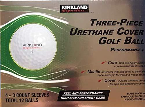 KLS 3-Piece Urethane Cover Golf Ball, 1-Dozen, White by KLS