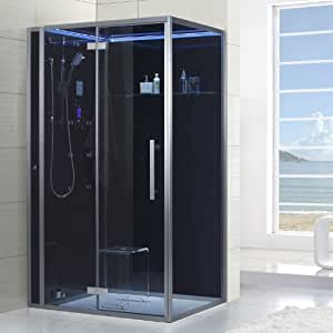 EAGO Vapor ducha dz990 F12 Negro/120 X 90/izquierda: Amazon.es: Bricolaje y herramientas