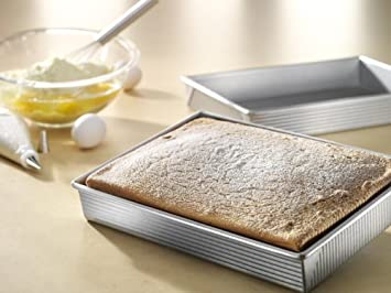 USA Pan Bakeware Rectangular Cake Pan, 9 x 13 inch, Nonstick Quick Release Coating, Made in the USA from Aluminized Steel