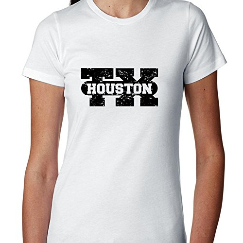 Hollywood Thread Houston, Texas TX Classic City State Sign Women's Cotton T-Shirt]()