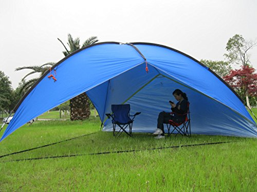 Oxking Outdoor 5-8 Person Beach Canopy Tent Large Triangular POP UP Sun C&ing Fishing & Oxking Outdoor 5-8 Person Beach Canopy Tent Large Triangular POP ...