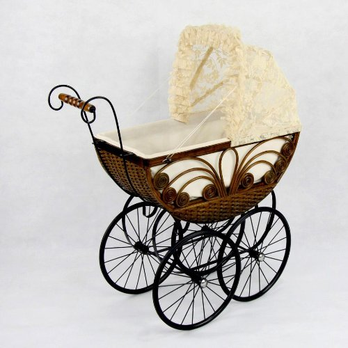 Caroline Doll Carriage (Wicker Doll Buggy)