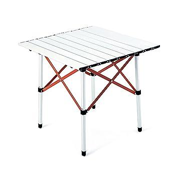 mesa plegable ZZHF Mesa Cuadrada/Mesa de Comedor Plegable al Aire ...