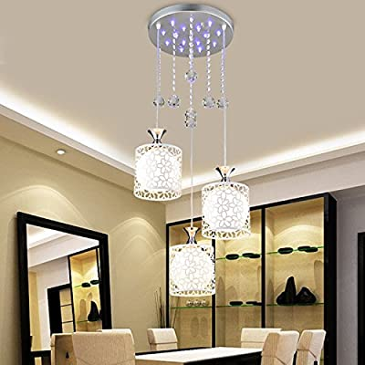 FEI&S Led crystal chandelier creative dining room lamp three energy-saving LED desk lamp Crystal lamps minimalist chandelier