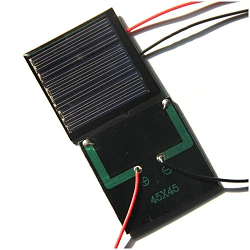 TOOGOO(R) 0.25W 5V DIY solar panels Dijiao board then electronic wire polysilicon board 45 45MM