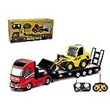 QINGYI MINI RC Toy 1:32 6CH RC Trailer With 1:20 6CH RC Dump Truck