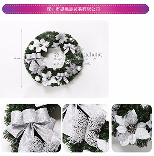 Christmas Garland for Stairs fireplaces Christmas Garland Decoration Xmas Festive Wreath Garland with Rattan rattan golden Christmas wreath garland,60cm