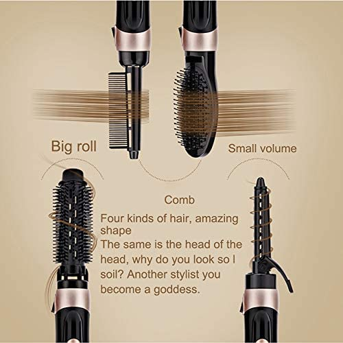 Hot Air Brush Hot Air Comb Straightener 4 in 1 Hair Dryer Brush Curler Hot Air Curler Iron Hair Styling Tool Reduce Frizz and Static Anti-Scal  fkfrv
