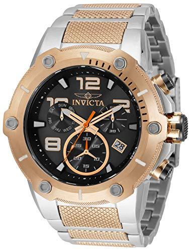 Reloj de cuarzo Invicta Speedway para hombre con correa de acero inoxidable, acero, oro rosa, 30 (modelo: 33282)