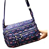Women 's Multi Pocket Crossbody Bag Casual Handbag Nylon Printing Shoulder Bag Casual Travel Sling Bag