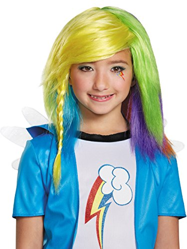 Disguise 85518 Rainbow Dash Equestria Wig Costume Child -