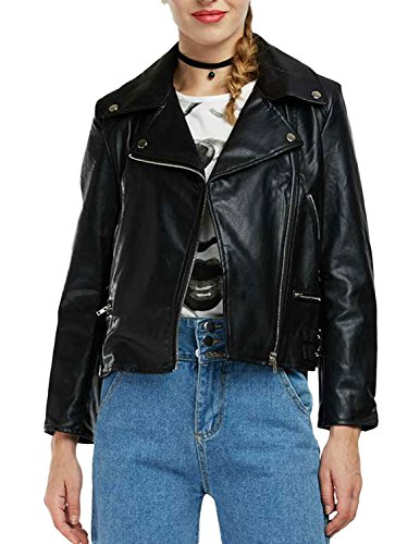 Persun Women Black Buckle Jacket