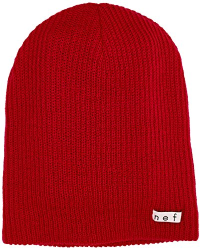 Neff Unisex Daily Beanie, Warm, Slouchy, Soft Headwear, Red, One Size -