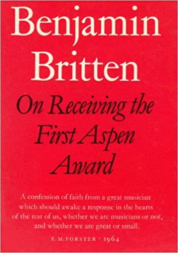 On Receiving the Aspen Award (Faber)
