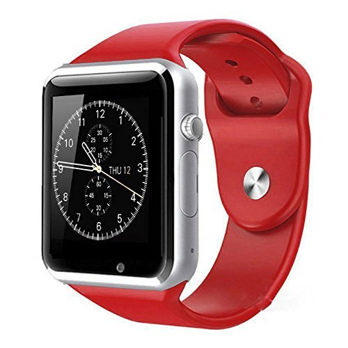 A1 Smart Wrist Watch Bluetooth Waterproof GSM Phone For Android Samsung iPhone Fashion/Smart watch (RED)