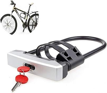 PIANAI Candado En U Candado En Forma De U para Bicicleta ...