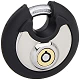 FJM Security SX-796-KA Hardened Steel Disc Padlock with Tubular Keyway and Rubber Bumper, Keyed Alike