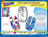iCarly Nickelodeon Portable USB Mouse with 3 Interchangeable Face Plates