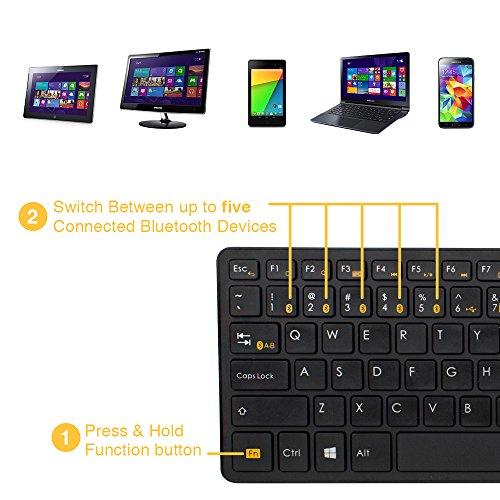 Satechi Bluetooth Wireless Smart Keyboard With 5-Device Sync