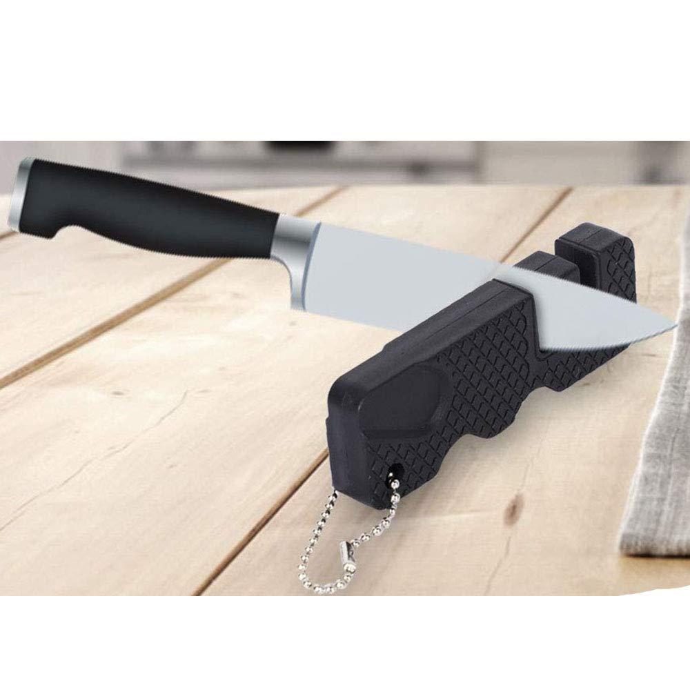 Amazon.com: Afilador de cuchillos elegante y delgado para ...