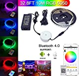 Bluetooth LED Strip Light, Topled Light® 32.8ft/10M Flexible RGB Strip Light Kit,5050 SMD 600Leds Rope Light for IOS/Android App Controlled for Festival Decoration