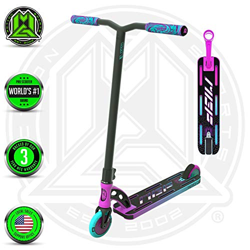 VX9 PRO Scooter - Suits Boys & Girls Ages 6+ - Max Rider Weight 220lbs - 3 Year Manufacturer's Warranty - World's #1 Pro Scooter Brand - MFX Patented Technology - Light Weight (Pink/Teal 2019) (Scooter Madd Gear Pro)