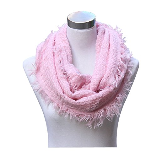 Lucky Leaf Women Winter Thick Knitted Woolen Yarn Infinity Scarf Circle Loop Scarves
