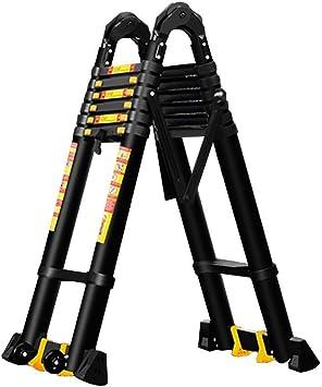 AOLI Escalera de Extensión, Mini Compacta Plegable Portátil Multifunción Escalera Estable de Aleación de Aluminio Ingeniería del hogar Elevación Escalera de junta grande extendida (2 tamaños) Escaler: Amazon.es: Bricolaje y herramientas