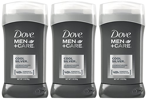 Dove Men+Care Cool Silver Deodorant, 3 Ounce (Pack of 3)