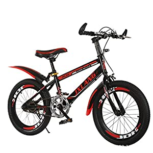 7Lucky Cool Mountain Bike, Outdoors Sports 18 Inch Road Bike Fashion 21-Speed Gear Shift System Bicycle for Adult Student Commuting