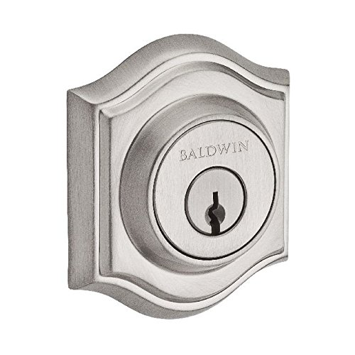 Baldwin Reserve DCTAD150S Double Cylinder Traditional Arch Deadbolt with Smartkey Satin Nickel Finish
