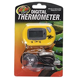 "Zoo Med Digital Terrarium Thermometer, 3 x 2 x 1"" 99"