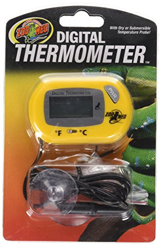 Habitat Thermometer - Zoo Med Digital Terrarium Thermometer, 3 x 2 x 1