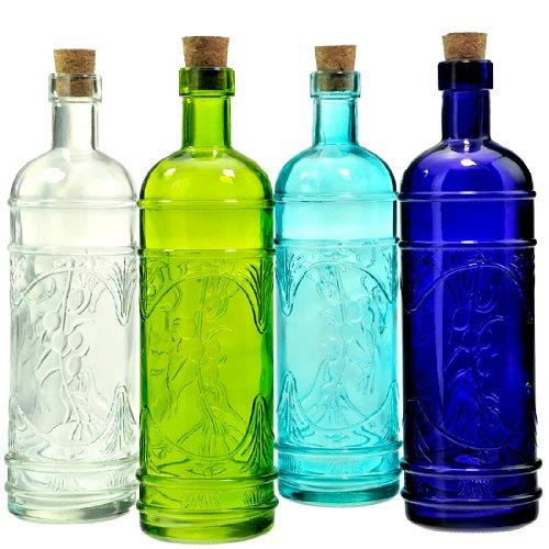 9 decorativo vidrio reciclado botella de hoja de olivo 16.1oz: Amazon.es: Hogar