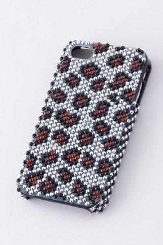[TRENDY FASHION JEWELRY LEOPARD PRINT BLING IPHONE 4 CASE BY FASHION DESTINATION   (White)] (Costumes Jewelry Prices)