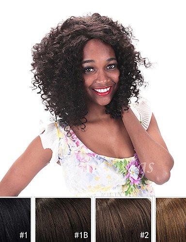 Pelucas europeos Moda pelo Breve No trasformati máquina de pelo de Remy pelo humano 10 Inch