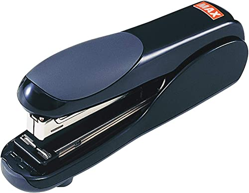 Max Flat-Clinch Black Standard Stapler with 30 Sheet Capacity