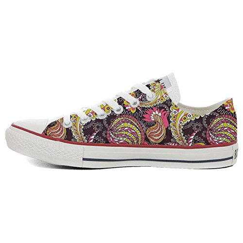 Sneaker Star Converse Shoes Produit Make Italien Unisex Artisanal Imprimés Vintage Your Low et Paysley All Personnalisé InzzxwPB