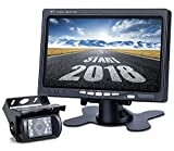 Upgrade Backup Camera Monitor Kit,1024X600 HD,IP69 Waterproof Rearview Reversing Rear View Camera 7''