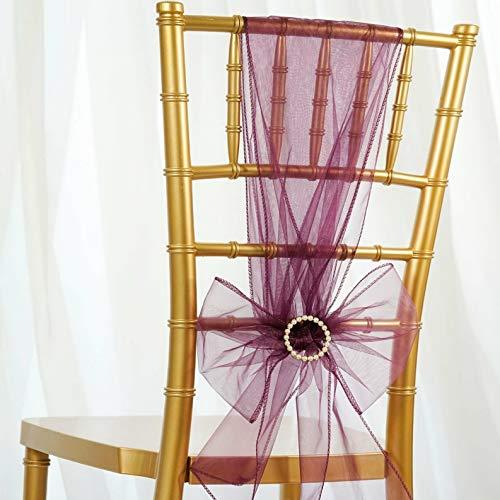 (Mikash 50/PK ~New~ Sheer Organza Chair Sash Bow Wedding Party Banquet 20+ Colors! | Model WDDNGDCRTN - 20625 |)