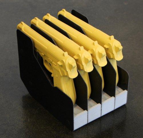 STEALTH Four (4) Handgun Pistol Rack Polyethylene Foam Gun Safe Accessory Storage Solution Made in USA