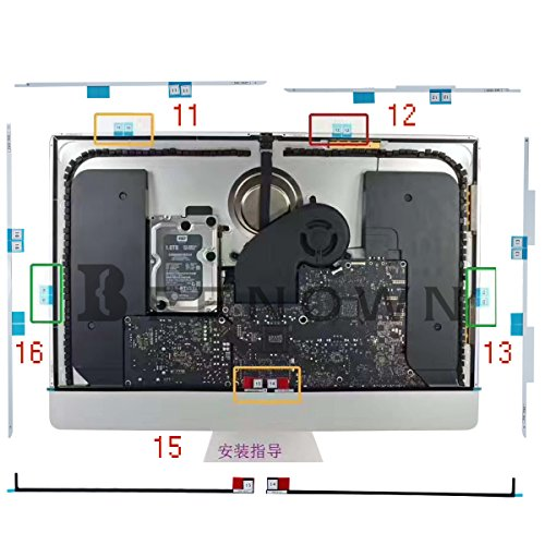 """Replacement LED LCD Panel Adhesive Tape/Strips + Opening Wheel Tools for iMac A1419 27"""" MD095LL/A MD096LL/A MD088LL/A MD089LL/A MF886LL/A MF885LL/A MK462LL/A MK482LL/A 2012 2013 2014 2015"""