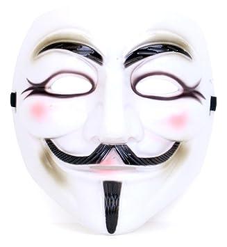 krautwear Máscara Guy Fawkes Anonymous V Vendetta Occupy Halloween Carnaval Fiesta fastnacht fasnacht fasnet Fasching Fast