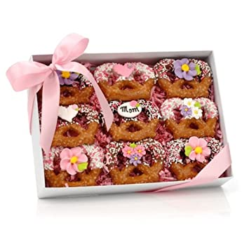 Amazon Com Mother S Day Pretzel Gift Box Of 9 Grocery Gourmet Food