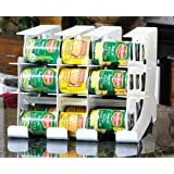 FIFO Can Tracker- Food Storage Canned Foods Organizer/Rotater/Dispenser: Kitchen, Cupboard, Pantry- Rotate Up To 54 Cans by FIFO Systems