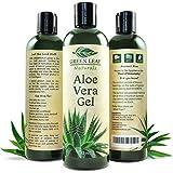 Green Leaf Naturals Organic Aloe Vera Moisturizer for Skin and Hair, 12 Ounce